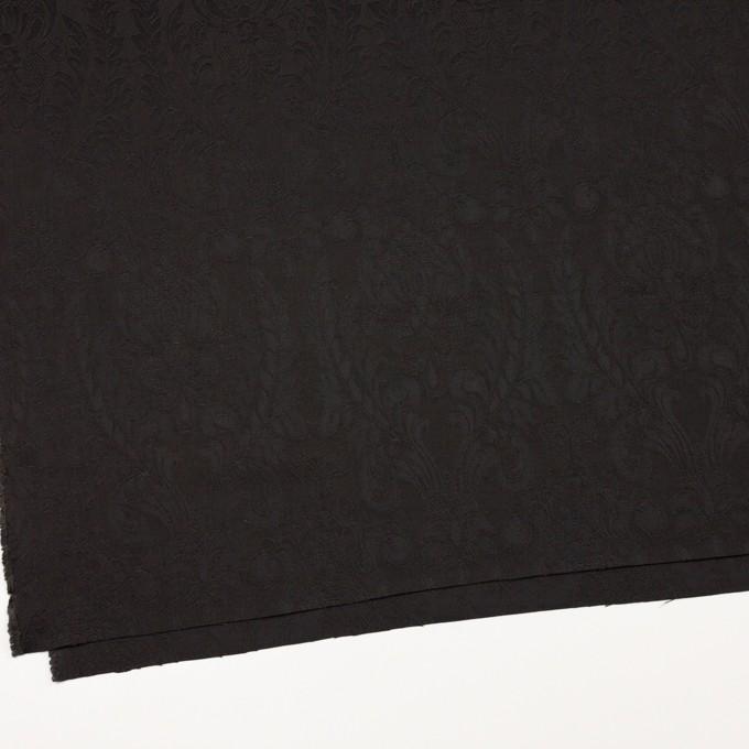 レーヨン&アセテート×幾何学模様(ダークブラウン)×サテンジャガード_イタリア製 イメージ2
