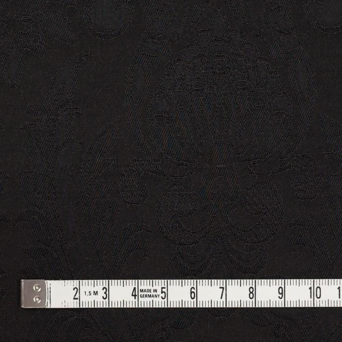 レーヨン&アセテート×幾何学模様(ダークブラウン)×サテンジャガード_イタリア製 イメージ4