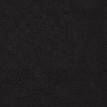 レーヨン&アセテート×幾何学模様(ダークブラウン)×サテンジャガード_イタリア製 サムネイル1