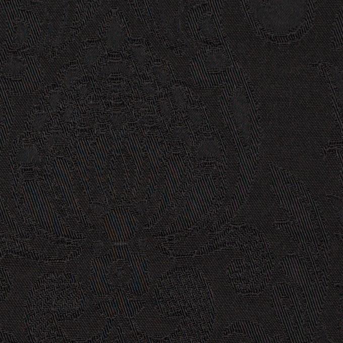 レーヨン&アセテート×幾何学模様(ダークブラウン)×サテンジャガード_イタリア製 イメージ1