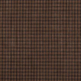 コットン×チェック(モカブラウン)×ボイル_全4色