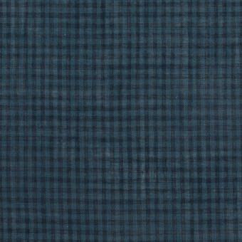コットン×チェック(ブルーグレー)×ボイル_全4色