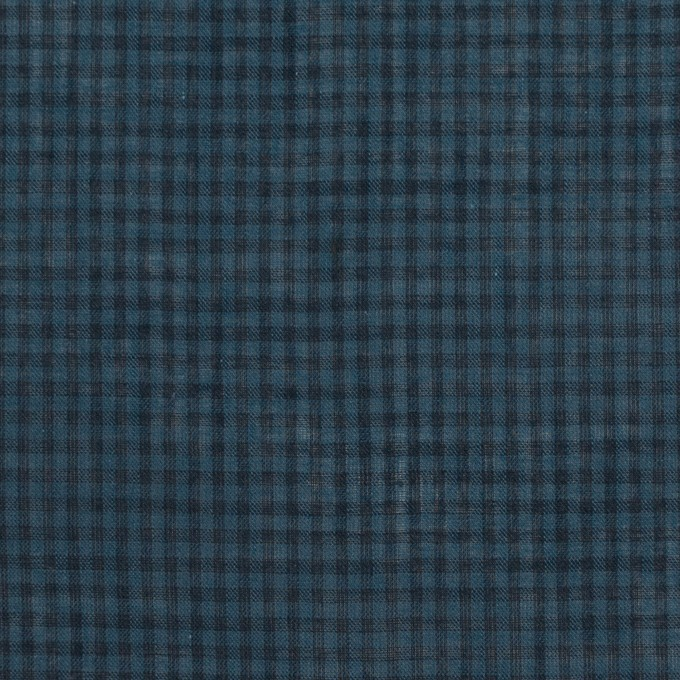 コットン×チェック(ブルーグレー)×ボイル_全4色 イメージ1