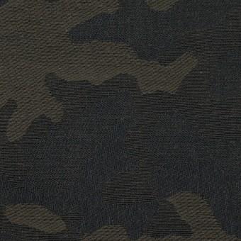 コットン×迷彩(カーキグリーン)×ジャガード