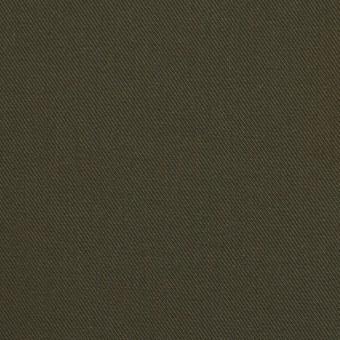 コットン×無地(ダークカーキ)×チノクロス