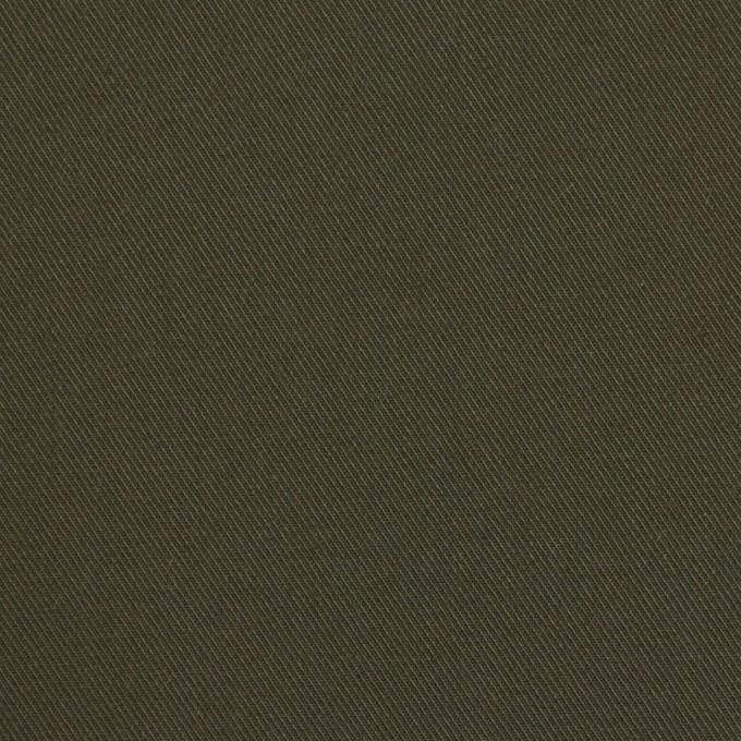 コットン×無地(ダークカーキ)×チノクロス イメージ1