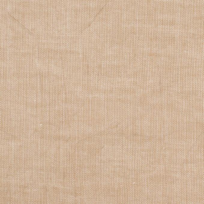 コットン&リネン×無地(ベージュ)×ボイルワッシャー イメージ1