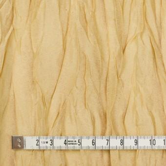 シルク&ポリエステル×無地(イエローゴールド)×オーガンジー(プリーツ加工)_イタリア製 サムネイル4