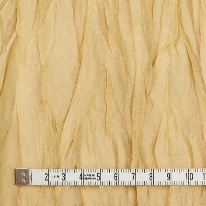 シルク&ポリエステル×無地(イエローゴールド)×オーガンジー(プリーツ加工)_イタリア製 イメージ4