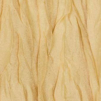 シルク&ポリエステル×無地(イエローゴールド)×オーガンジー(プリーツ加工)_イタリア製
