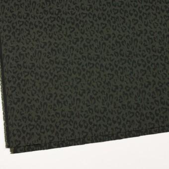 コットン×レオパード(モスグリーン)×ジャガード_全4色 サムネイル2
