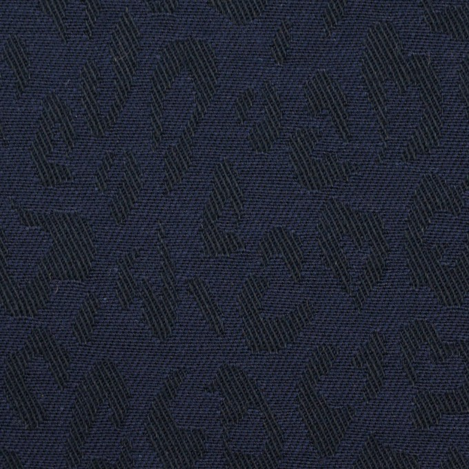 コットン×レオパード(ネイビー)×ジャガード_全4色 イメージ1