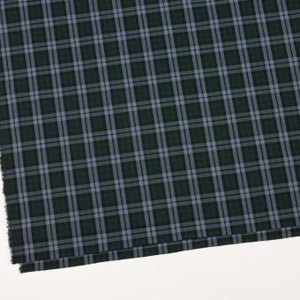 コットン×チェック(モスグリーン&ブルーグレー)×ローン サムネイル2