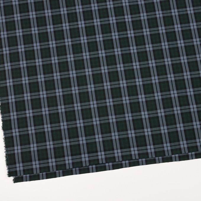 コットン×チェック(モスグリーン&ブルーグレー)×ローン イメージ2