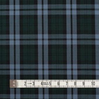 コットン×チェック(モスグリーン&ブルーグレー)×ローン サムネイル4