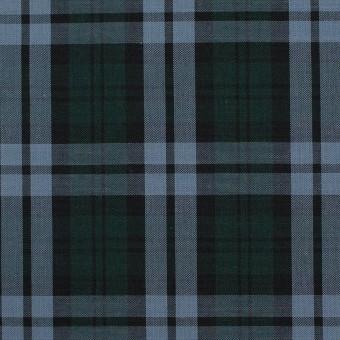 コットン×チェック(モスグリーン&ブルーグレー)×ローン サムネイル1