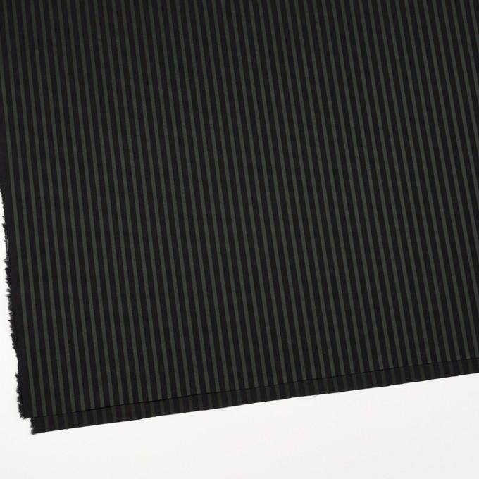コットン×ストライプ(モスグリーン&ブラック)×ブロードジャガード_全2色 イメージ2