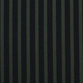 コットン×ストライプ(モスグリーン&ブラック)×ブロードジャガード_全2色