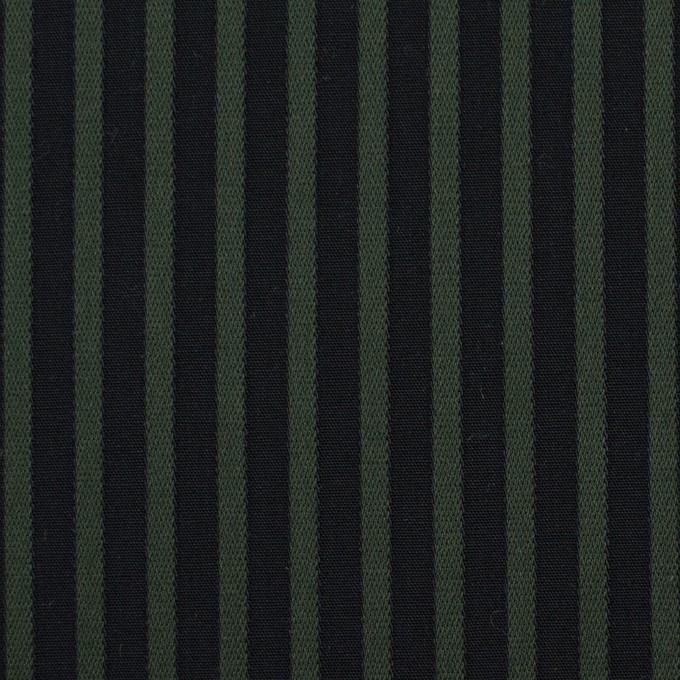 コットン×ストライプ(モスグリーン&ブラック)×ブロードジャガード_全2色 イメージ1