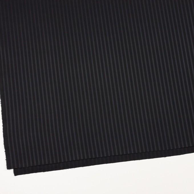 コットン×ストライプ(チャコール&ブラック)×ブロードジャガード_全2色 イメージ2