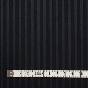 コットン×ストライプ(チャコール&ブラック)×ブロードジャガード_全2色 サムネイル4