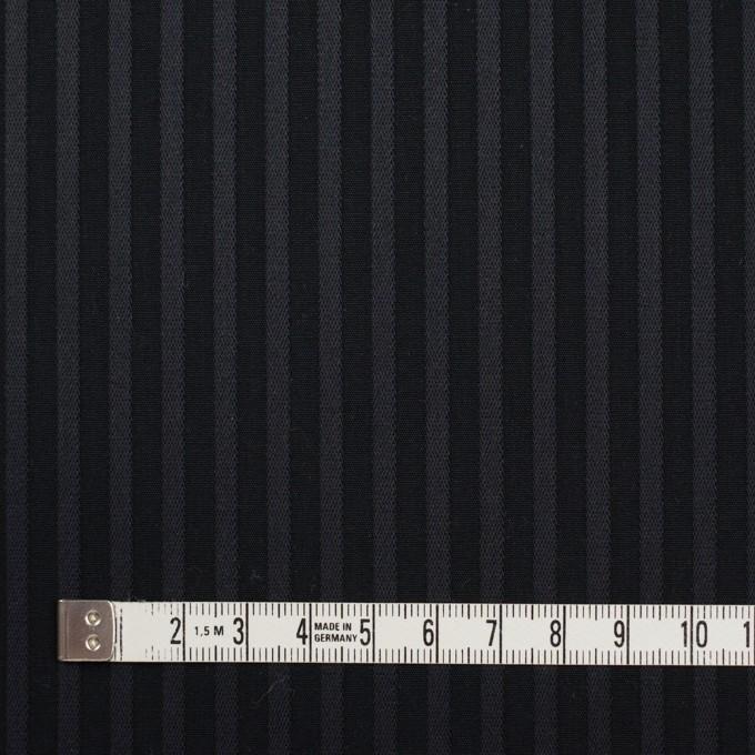 コットン×ストライプ(チャコール&ブラック)×ブロードジャガード_全2色 イメージ4
