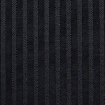 コットン×ストライプ(チャコール&ブラック)×ブロードジャガード_全2色
