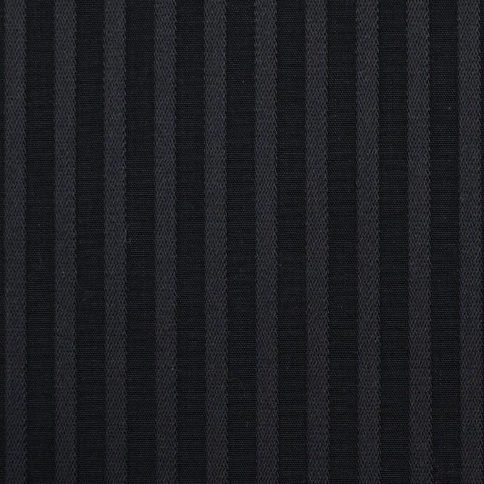 コットン×ストライプ(チャコール&ブラック)×ブロードジャガード_全2色 イメージ1