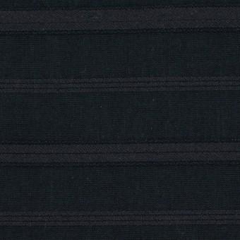 コットン×ボーダー(チャコールブラック)×ボイルジャガード