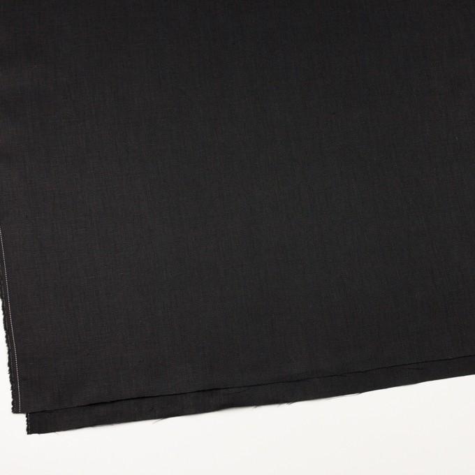 リネン×無地(ブラック)×オックスフォード_全4色 イメージ2