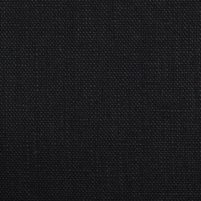 リネン×無地(ブラック)×オックスフォード_全4色 イメージ1