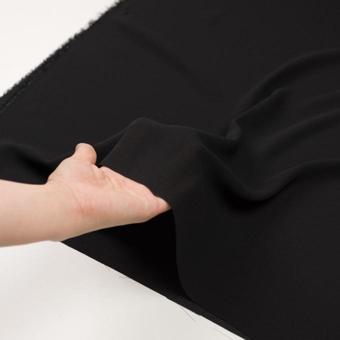シルク×無地(ブラック)×ジョーゼット_イタリア製 イメージ5