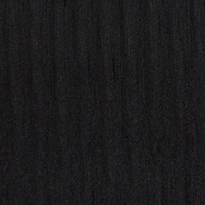 シルク×無地(ブラック)×Wジョーゼット_全2色 イメージ1