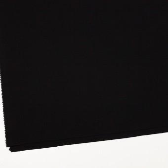 ウール&ポリウレタン×無地(ブラック)×ポプリンストレッチ_イタリア製 サムネイル2