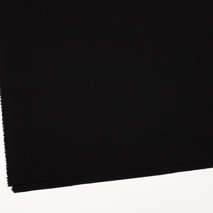 ウール&ポリウレタン×無地(ブラック)×ポプリンストレッチ_イタリア製 イメージ2