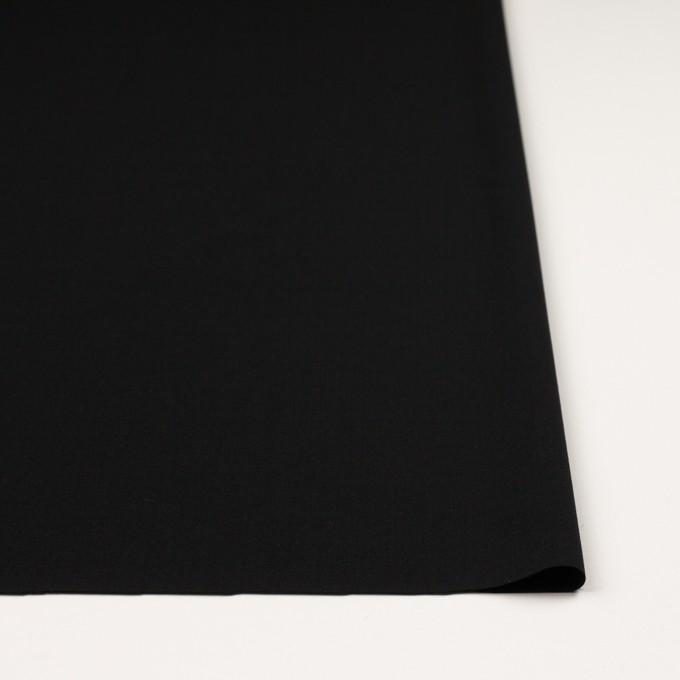 ウール&ポリウレタン×無地(ブラック)×ポプリンストレッチ_イタリア製 イメージ3