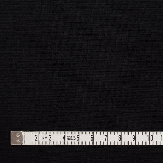 ウール&ポリウレタン×無地(ブラック)×ポプリンストレッチ_イタリア製 イメージ4