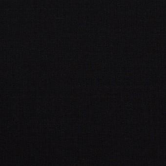 ウール&ポリウレタン×無地(ブラック)×ポプリンストレッチ_イタリア製