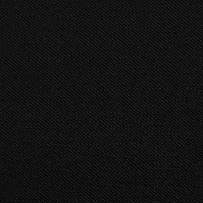 レーヨン&ウール×無地(ブラック)×サージ イメージ1