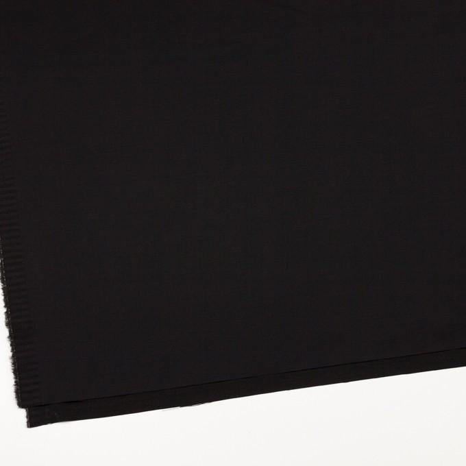 レーヨン&ウール×無地(ブラック)×サテン イメージ2