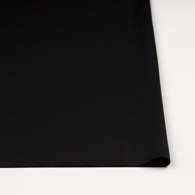 レーヨン&ウール×無地(ブラック)×サテン イメージ3