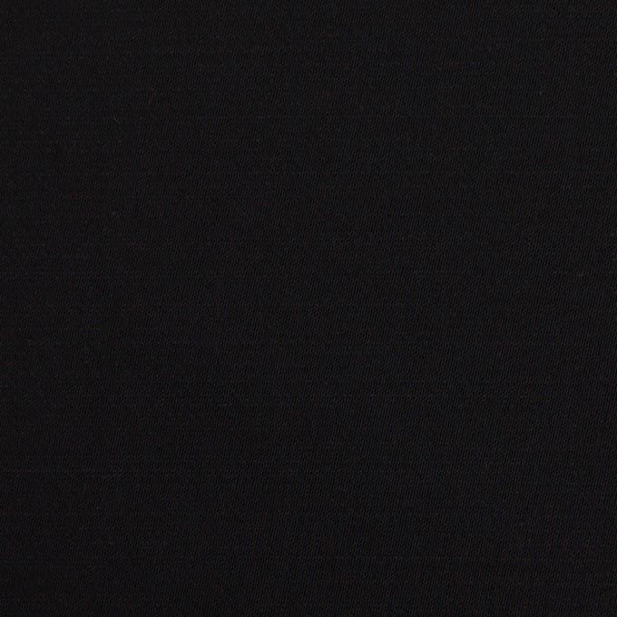レーヨン&ウール×無地(ブラック)×サテン イメージ1