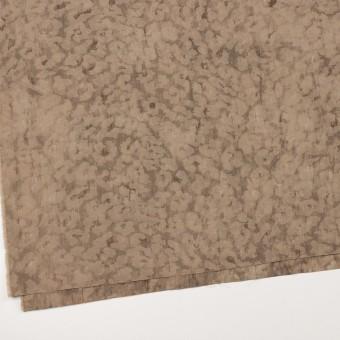 ウール&ポリエステル混×レオパード(セピア)×ジャガード_イタリア製 サムネイル2