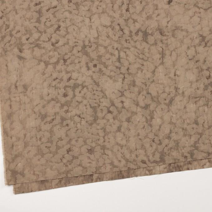 ウール&ポリエステル混×レオパード(セピア)×ジャガード_イタリア製 イメージ2