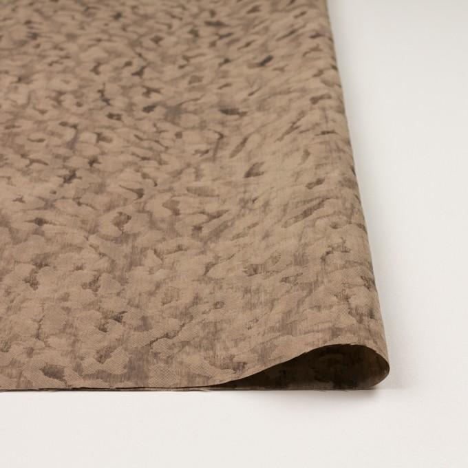 ウール&ポリエステル混×レオパード(セピア)×ジャガード_イタリア製 イメージ3