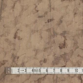 ウール&ポリエステル混×レオパード(セピア)×ジャガード_イタリア製 サムネイル4