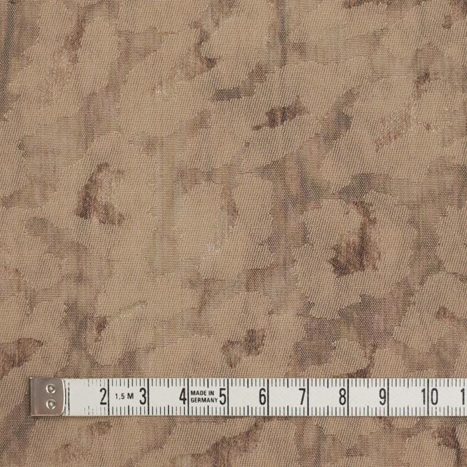 ウール&ポリエステル混×レオパード(セピア)×ジャガード_イタリア製 イメージ4