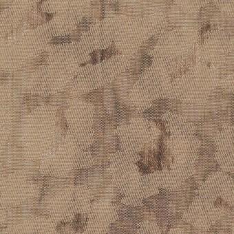 ウール&ポリエステル混×レオパード(セピア)×ジャガード_イタリア製 サムネイル1