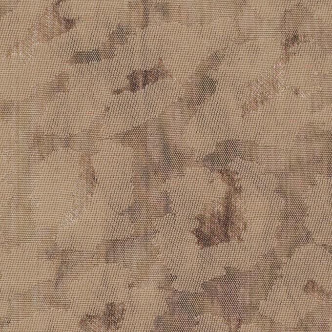 ウール&ポリエステル混×レオパード(セピア)×ジャガード_イタリア製 イメージ1