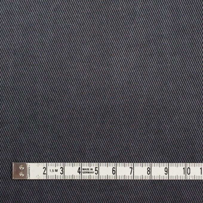 コットン&ビスコース混×無地(スチールグレー)×サージストレッチ_イタリア製 イメージ4